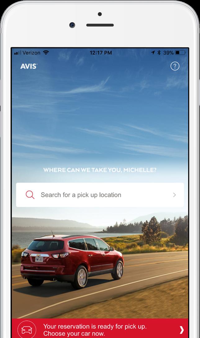 The Avis App Avis Car Rental