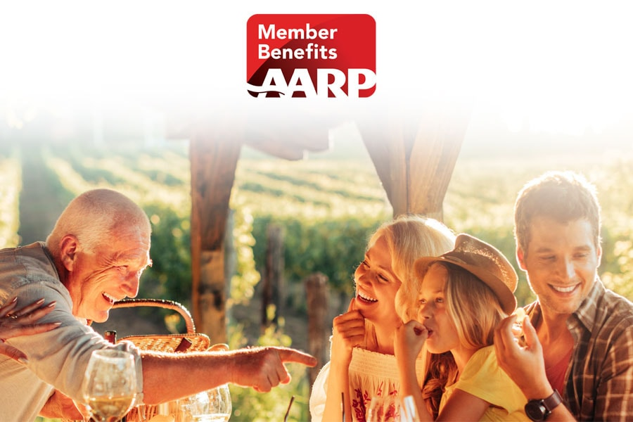 AARP members save up to 30%.