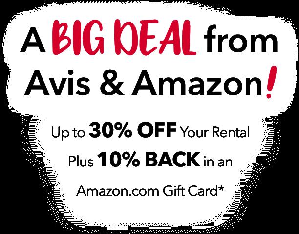 Amazon Benefits | Avis Rent a Car